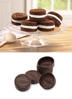 Mini Sandwich Cookie Oven Safe Silicone Pans Set of 6