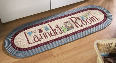 Laundry Room Braided Rug Runner