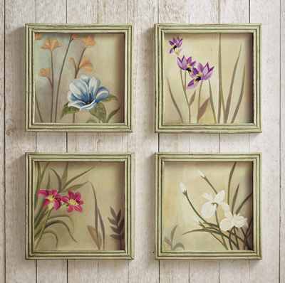 Botanical Floral Canvas Wall Decor Frames