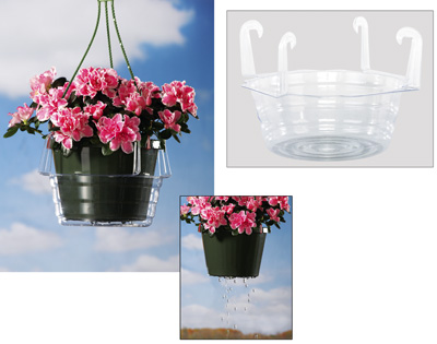 Hanging Planter Basket Water Catchers