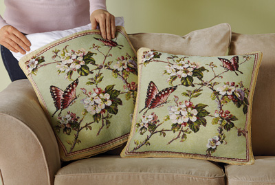 Floral Butterfly Tapestry Pillow Covers - Set of 2