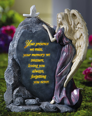 Precious Angel Lighted Memorial Stone