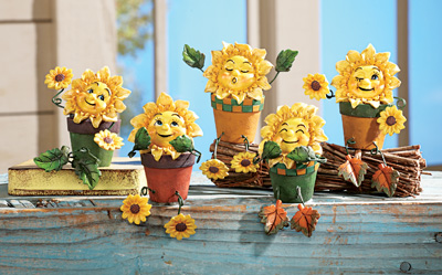 Collectible Sunflower Shelf Sitters - Set of 5