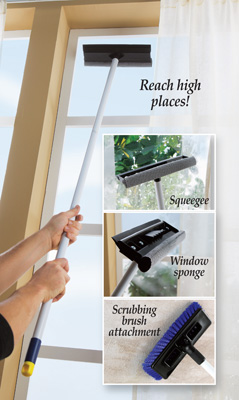 High Reach Window Cleaning Set with Attachments