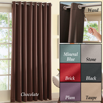 Gramercy Patio Door Grommet Top Curtain Panel