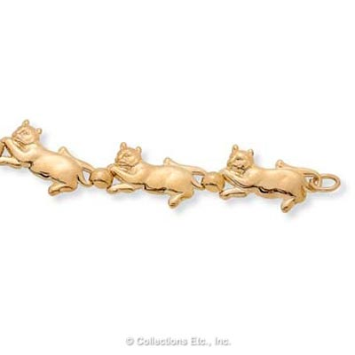 Cat Chase Goldtone Bracelet