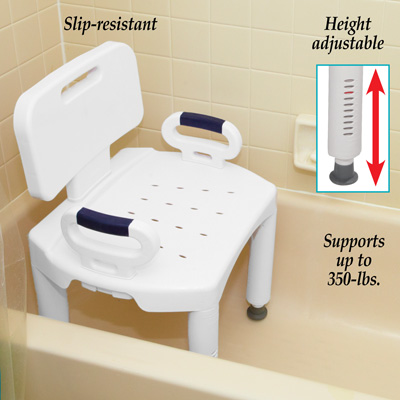 Premium Shower Chair with Back and Handles