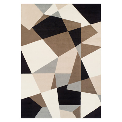 Abstract Geometric Shapes Collection Area Rug