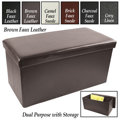 Large Rectangle Collapsible Storage Ottoman