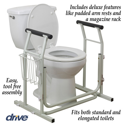 Toilet Safety Rail with Arm Rests