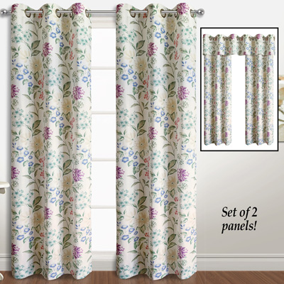 Christine Floral Curtain Panel Pairs