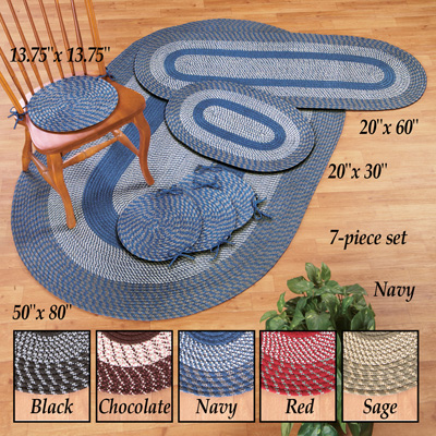 Braided Accent Rug Set - 7pc