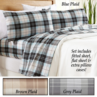Hanley Plaid Microfiber Sheet Set