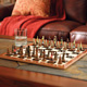 Native American Chess Board and Chess Pieces
