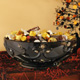 Ceramic Black Spider Halloween Candy Serving Bowl
