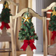 Christmas Tree Holiday Dining Chair Decoration Ties