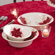 Red Poinsettia Christmas Holiday Nesting Bowl Serving Set
