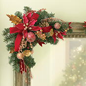 Holiday Floral Pine Cone Corner Bouquets - 11584