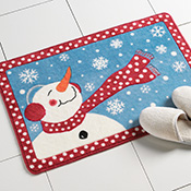 Frosty Winter Snowman Bath Rug - 11589