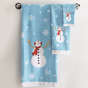 Frosty Snowman Bathroom Towels - Set of 3 - 11753