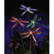 Color Changing Solar Dragonfly Lawn Stakes