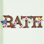 Floral Bath Metal Wall Art Decoration
