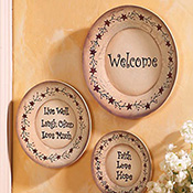 Country Primitive Decorative Wall Plates