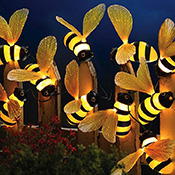 Bumblebee Fiber Optic Outdoor String Lights