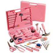 Ladies' Pink Hardware Tool Kit - 105 pc. - 14049