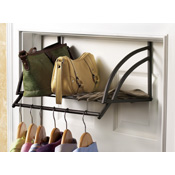 Over the Door Clothing & Accessories Storage Shelf