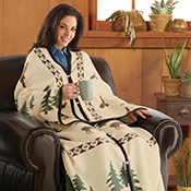 Northwoods Cuddle Wrap Blanket