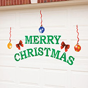 Merry Christmas Holiday Garage Door Magnets  Decoration