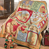 Teddy Bear Fleece Throw Blanket by Teresa Kogut