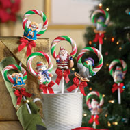 Set of 12 Christmas Wreath Candy Lollipops