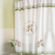 Fabric Hummingbird Bathroom Shower Curtain