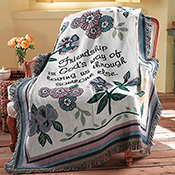 Inspirational Floral Friends Tapesty Throw