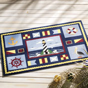 Navigation Nautical Theme Doormat