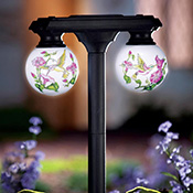 Hummingbird Solar Globe Light Outdoor Garden Stake