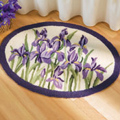 Iris Flower Small Area Rug