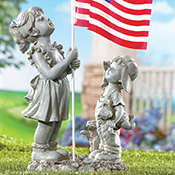 Patriotic Children with American Flag