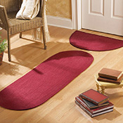 Red Braided Accent Rugs - Set of 2