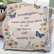 Granddaughter Butterfly Tapestry Throw Blanket