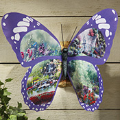Color Changing Fiber Optic Lighted Butterfly Wall Decor