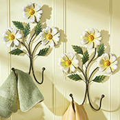 Daisy Flower Hanging Wall Hooks