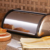 Mirror Finish Stainless Steel Bread Box