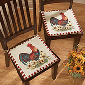 Rooster Decor Chair Pad Cushions