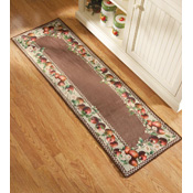 Apple Border Kitchen Decorative Accent Runner
