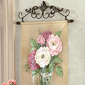 Rose Canvas Scroll Wall Art