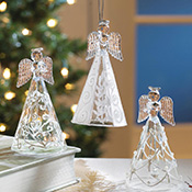 Collectible Glass Angel Bell Ornaments
