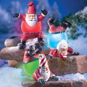 Set of 3 Jolly Solar Christmas Gnomes